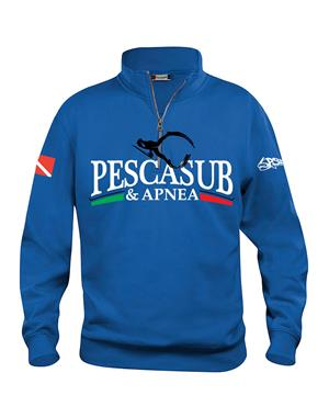 psa_pesca Felpa Mezza Zip Unisex Royal (21033)