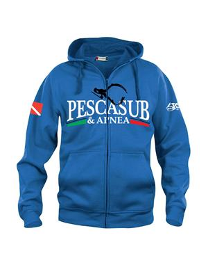 psa_pesca Basic Hoody Full Zip Royal (21034)